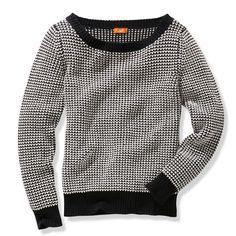 Joe Fresh Sweaters - JF Black + White Textured Waffle Knit Sweater