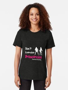 da8389c9 Prancercise Funny Shirt - Pracercise Fun Shirt - Pransercise t shirt -  youtube pracercise funny shirt - Womens exercise shirt | Tri-blend T-Shirt