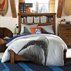 Shark Tee Duvet Cover + Sham | PBteen
