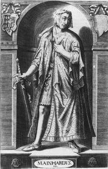 Meinhard III. Herzog von Oberbayern und Graf von Tirol (1344 - 13. Januar 1363) Sohn Margaretes von Tirol mit Ludwig V. von Bayern. 1359 heiratet er Margarete, eine Tochter des österreichischen Herzogs Albrecht II, besiegelte so das Bündnis seiner Eltern mit den Habsburgern. Nach seinem Tod vererbte seine Mutter die Ansprüche Meinhard VI, an den Bruder ihrer Schwiegertochter.