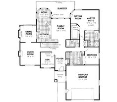 Ranch style open floor plans with basement bedroom floor for 30x30 2 story house plans