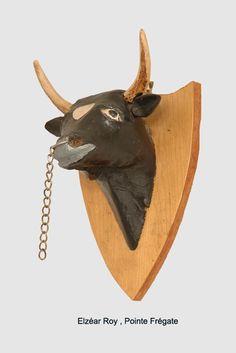 Le boeuf du sculpteur Elzéar Roy de  Pointe Frégate. Moose Art, Animals, Animales, Animaux, Animal, Animais