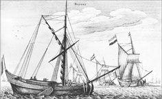 Zeegaande boeiers. Gravure van Wenzel Hollar [1647]., collectie Scheepvaartmuseum Amsterdam