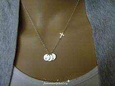 Cross Necklace- Initial Necklace