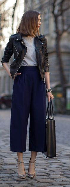 Spring Leathers Outfit Idea