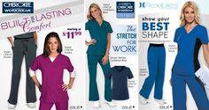 Core Stretches, Cherokee Scrubs, Medical Uniforms, Work Fashion, Work Wear, Navy, Coat, Jackets, Blue