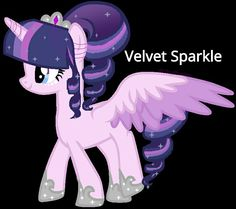 Velvet Sparkle up for adoption but wasn't Twilight Sparkle's mom named Velvet Sparkle? Adopted by unleashed kitty