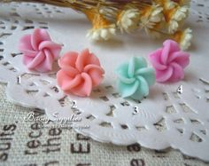6pcs 12mm Polymer Clay flowers FIMO flowers Straight by baosy, $1.99