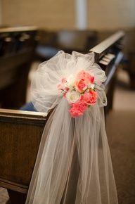Wedding Aisle Decoration Pew Bow