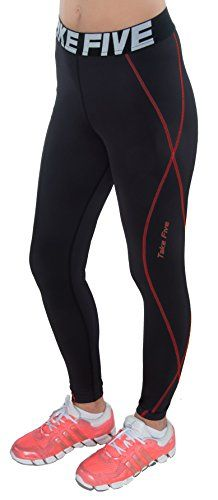 SmartSports TFx Womens Compression Pants Black Red  2XLarge *** Be sure to check out this awesome product.Note:It is affiliate link to Amazon.