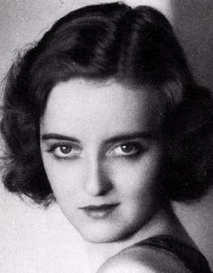 a very young Bette Davis.
