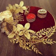 Gifts Wrapping Birthday Basket Ideas 43 Ideas For 2019 Wedding Gift Baskets, Wedding Gift Wrapping, Engagement Decorations, Indian Wedding Decorations, Wedding Crafts, Diy Wedding, Engagement Ring Platter, Birthday Basket, Birthday Gifts