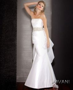 Strapless Ruffle Back Gown, Style 9915