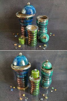 ceramic canister set raku pottery jar with lid modern jars