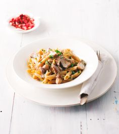 Penne s houbami a speckem Penne, Risotto, Ethnic Recipes, Food, Meals, Yemek, Pens, Eten
