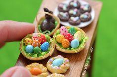 PetitPlat Handmade Miniature Food: Easter Miniatures - Miniatures pour Pâques