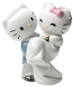 Hello Kitty Gets Married Figurine by NAO by Lladro, Wedding-Related-Sculptures-Statues-Figurines, 2001662 - AllSculptures.com