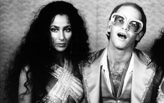 Elton John With fellow icon Cher in 1975.