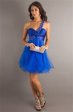 Twisted Beading Strap Homecoming Dress