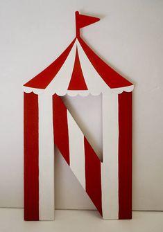 Circus Birthday Party, Carnival Party, Circus Letters, Carnival Birthday Party (price is per letter) Vintage Circus Party, Circus Theme Party, Carnival Birthday Parties, Birthday Party Themes, Vintage Carnival, Circus Wedding, Decoration Cirque, Circus Decorations, Carnival Themes
