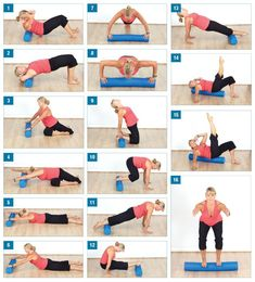 Foam Roller body blast - this looks like a great home workout....I bought the roller for stretching but hardly ever use it for that....now I have no excuse not to pull it out and use it.