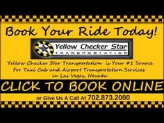 http://ycstrans.com Yellow Checker Star is Your #1 Taxi Cab Service and Airport Transportation in Las Vegas Nevada. To Book Your Ride Call 702.873.2000 or Vi...