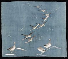 Charles Guilloux Japanese Textiles, Japanese Prints, Art Japonais, Sora, Asian Art, Illustration Art, Illustrations, Wings, Animals