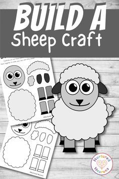 This cute sheep cut and paste craft is great for any farmyard fans out there and could also make a lovely spring craft. It's easy to prepare and make and there's a black and white lamb template so your kids can color it in themselves! Grab the templates over at Nurtured Neurons! #springcrafts #sheep #sheepcrafts #lambcrafts #cutandpaste #preschoolcrafts #kindergarten #toddlercrafts Lamb Template, Sheep Template, Toddler Crafts, Preschool Crafts, Fun Crafts, Crafts For Kids, Spring Lambs, Sheep Crafts, Kids And Parenting