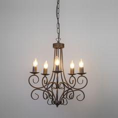 Lámpara de araña ROMANTICA 5 color óxido
