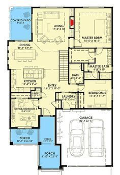 Expandable Bungalow House Plan - floor plan - Main Level only. Best House Plans, Dream House Plans, Small House Plans, House Floor Plans, Bungalow House Plans, Craftsman House Plans, The Plan, How To Plan, D House