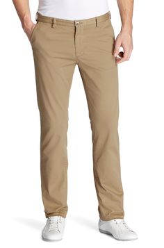BOSS Slim fit casual trousers 'Rice-1-D modern essential' Beige free shipping
