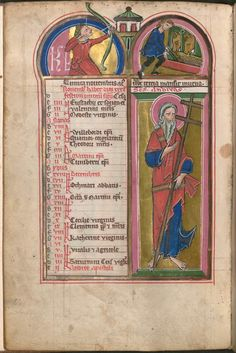 Calendar page for November.  c. 1265, in the region of Magdeburg.  Bayerische StaatsBibliothek MS Clm 23094 -- Psalter with the office of the dead.