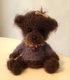 Artist bear collectible oneofakind by BearytalesbyMireille on Etsy