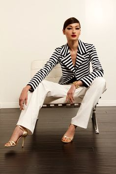 I absolutely love this look that Bruna Tenório is wearing.style4style: St. John - Resort 2013. Complete collection here.