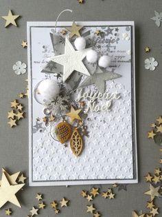 beautiful embossed Christmas card Source by delobelannemari Cas Christmas Cards, Scrapbook Christmas Cards, Christmas Labels, Scrapbook Cards, Holiday Cards, Christmas Crafts, Christmas Recipes, Xmas Cards Handmade, Handmade Christmas