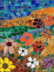 I love this work, one the Glass Shard Mosaics by artist Jonathan Mandell Designs Inc.
