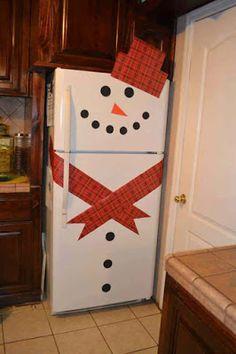 15 Ideas para Decorar los Refrigeradores (nevera) con el Tema Navideño