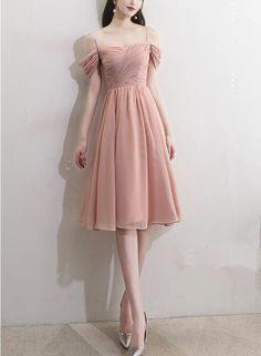 Unique Prom Dresses, Pink Off Shoulder Short Bridesmaid Dresses, Chiffon Party Dress, Pink Party Dresses, There are long prom gowns and knee-length 2020 prom dresses in this collection that create an elegant and glamorous look Pink Party Dresses, Girls Formal Dresses, A Line Prom Dresses, Short Bridesmaid Dresses, Homecoming Dresses, Sexy Dresses, Cute Dresses, Short Dresses, Prom Gowns