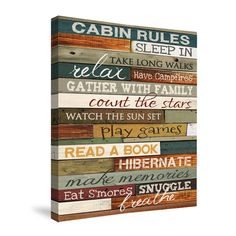 Cabin Rules Shower Curtain – Laural Home