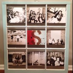 Window sash picture frame! Love it!