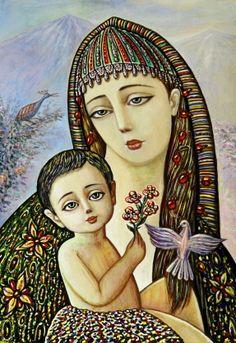 Sevada Grigoryan - Madonna, 2012, 50x36 cm, mixed media on cardboard, sold.