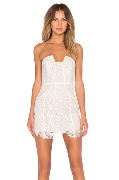 Lovers + Friends Part Time Lover Bodycon Dress in Ivory | REVOLVE