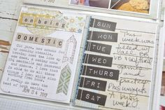 I'm back today with Week 23 of my Project Life.  This week I am a guest at Basic Grey  and will be using the Clippings  collection of produc...