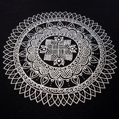 Another Kolam/Rangoli Inspired Mandala | Flickr - Photo Sharing!