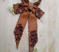 Women's bow tie, leather neck bow, #neckbow,#handmadebowtie