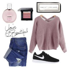"""""""Untitled #20"""" by eporima on Polyvore featuring NIKE, Chanel and Bobbi Brown Cosmetics"""