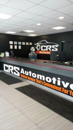 Our service counter at CRS Automotive Oakville #Oakville 2219 Wyecroft Road