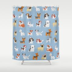 ENGLISH DOGS Shower Curtain