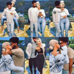 image Sims 4 Couple Poses, Couple Posing, Family Posing, Sims 4 Cc Skin, Sims Cc, Toddler Poses, Kid Poses, Tumblr Sims 4, Sims 4 Piercings
