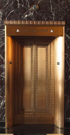Elevator doors, City Club, San Francisco